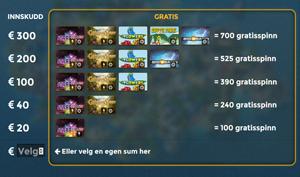 Casino Saga lommebok free spins promo