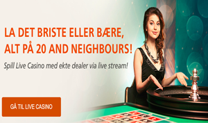 InstaCasino live casino spilleautomater