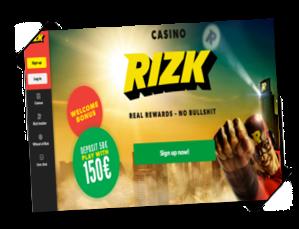 Rizk MEGA-konkurranse kampanje free spins gratis spinn bonus Mega Fortune