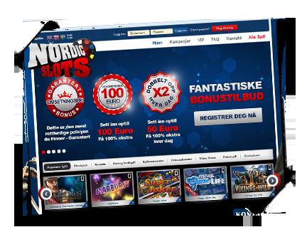 NordicSlots det beste norske casino spilleautomater bonus