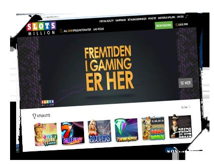 SlotsMillion det beste norske casinoet spilleautomater bonus free spins