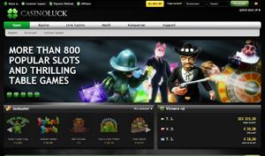 CasinoLuck forside spilleautomater