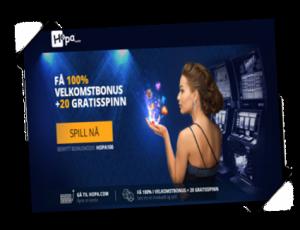 Hopa promo art Spilleautomater.org